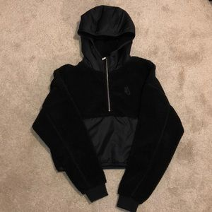 XS Nike black crop hoodie